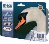 Комплект картриджей Epson T0817 оригинальный