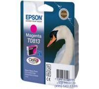 Картридж пурпурный Epson T0813 оригинальный