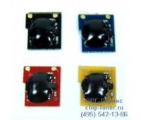 Чип голубого картриджа HP CLJ CP3520 / CP3525