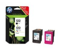 Комплект картриджей HP 122 (черный и цветной картриджи),  оригинальный